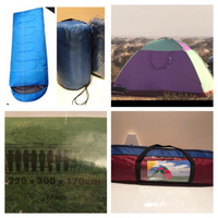 Used 4-6-8 person tent 2 sleeping bags