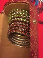 12 bangles 2.6 size red and green