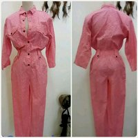 Used Pink overall for Women Brand new. in Dubai, UAE