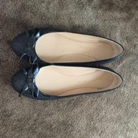 Used Charles And Keith Black Ballerina Shoes Brand New Size 37 in Dubai, UAE