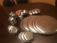 Used Steel dinner set 24 pieces  in Dubai, UAE