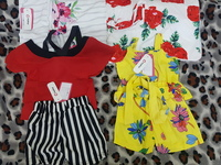 Baby clothing  set 2 suits and 2 bottles