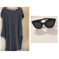 Used Beach dress size medium & sunglasses  in Dubai, UAE