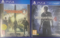 Used Ps4 Games uncharted 4 and the division 2 in Dubai, UAE