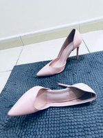 Leather baby pink shoes