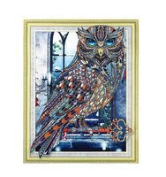 Used Hand made owl portrait with frame in Dubai, UAE