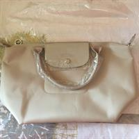 Authentic Longchamp Neo Bag In Beige Color Size Small Includes Dustbag and Carecard
