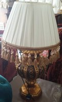 Used A wooden table lamp for sale!! in Dubai, UAE