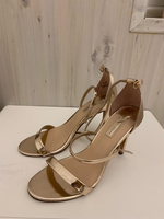 Used Dorthy Perkins rose gold heels size 6  in Dubai, UAE