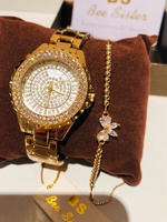 Used BS diamond look watch with bracelet  in Dubai, UAE