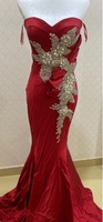 Used charming red rhinestones evening dress  in Dubai, UAE
