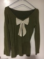 Used Off shoulder fur sweater with bow  in Dubai, UAE