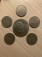 Used Old French and British coins in Dubai, UAE
