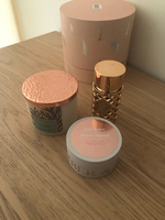 Used Rosegold set perfume+argan butter+candle in Dubai, UAE