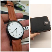Used Original TOMI Watch¤ 🆓️ Leather Wallet in Dubai, UAE