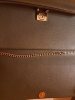 Used Mango olive sling bag with gold chain in Dubai, UAE
