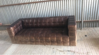 Used Rexin sofa 3 seater in Dubai, UAE