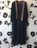 Chiffon Long Cardigan New Black Fits Medium To XL