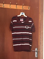 Used Children boys Maroon stripe stretchable in Dubai, UAE