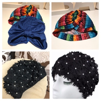 Used petal flower swim cap new black in Dubai, UAE