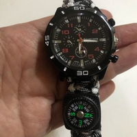 Watch paracord bracelet with compass