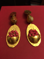 Used Gold plated earrings ' hand made designs in Dubai, UAE