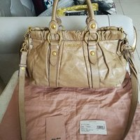 Used AUTHENTIC MIUMIU LEATHER BAG.. in Dubai, UAE