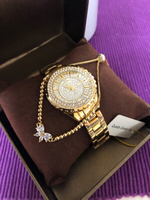 Used *Bee Sister Gold Watch + Bracelet * in Dubai, UAE