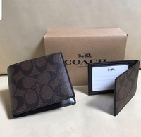Used NEW Coach Signature Compact ID PVC Men W in Dubai, UAE