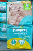 New Born Pamper 60 pieces