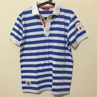 Used Kappa Striped Blue Polo Collared Shirt in Dubai, UAE