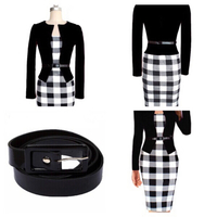 Casual dress black/white size S
