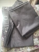 Used 2 piece  gray curtain pair  full length in Dubai, UAE