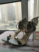 Winged heels - white and gold size 40