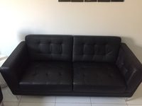 Used 5 seater (3*2) Black Sofa Set in Dubai, UAE