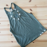 Used Free people Army Embroidered tank topNEW in Dubai, UAE