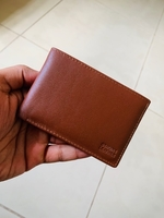 Pure Cow leather card holder brown color