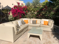 Used Outdoor Rattan Sofas and Coffee Table in Dubai, UAE