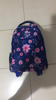 Used Blue kids school bag with pink flowers in Dubai, UAE