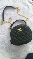 Used Black stylish handbag with golden chain in Dubai, UAE