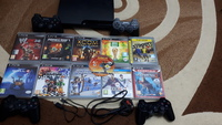 Used Ps3 Slim 11 games 4 controllers & wires in Dubai, UAE