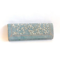 Used Rodo Denim and Crystals Clutch in Dubai, UAE