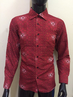 Used Bloody red flowers cotton shirt for men in Dubai, UAE