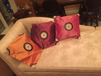 Silk cushion covers 6 pieces