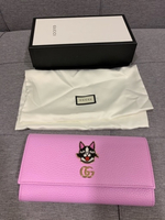 Used Gucci pink leather wallet in Dubai, UAE