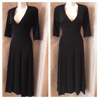 Used black dress size M  in Dubai, UAE