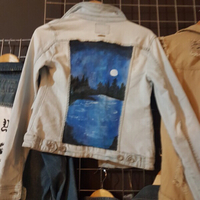 Used Hand Painted Denim Jackets by Blvckatlas in Dubai, UAE
