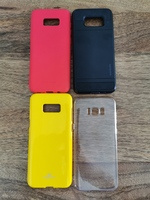Used S8+ SET OF 3 and 1 card holder cover in Dubai, UAE