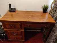 Used Antique wooden desk with drawers in Dubai, UAE