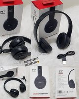 Used Black bluetooth headphones P47. Nw in Dubai, UAE
